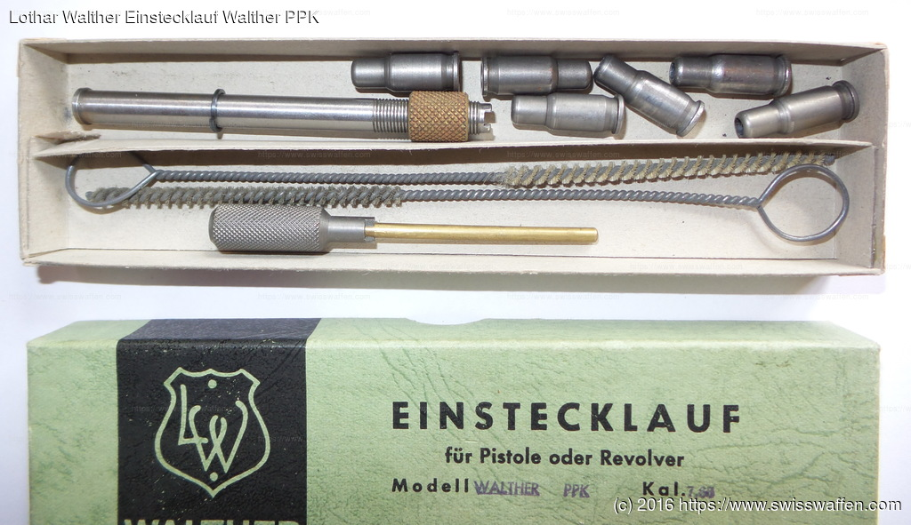 Lothar Walther Einstecklauf Walther PPK