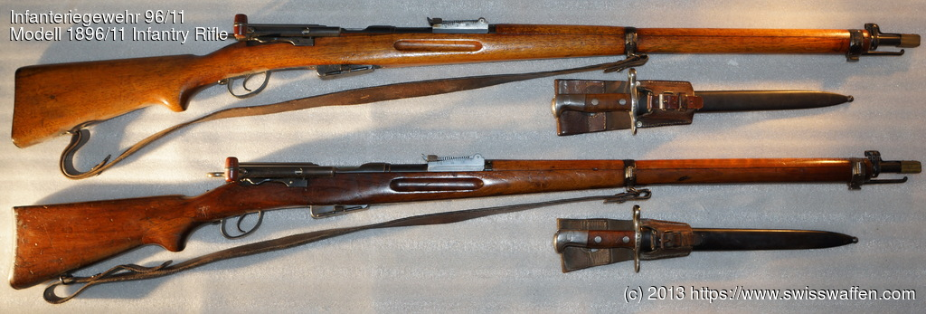 GER: Oben: Modell 1911 Infantry Rifle Unten: Modell 1896/11 Infantry Rifle